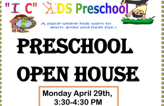 IC Kids Pre-School Open House