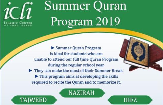 ICLI Summer Quran Program 2019