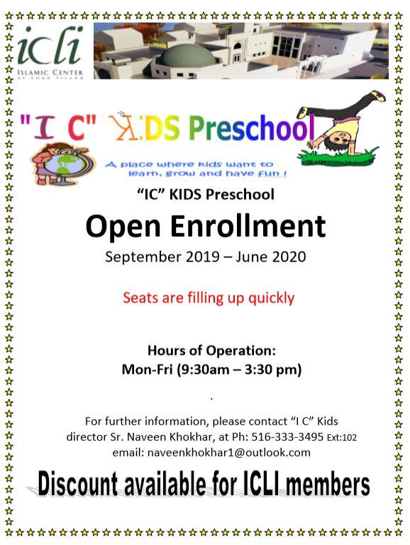 IC Kids – Preschool – Islamic Center of Long Island