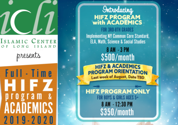 ICLI Hifz Program with Academics 2019-2020