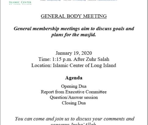 General Body Meeting