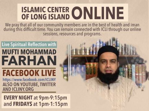 Live Spiritual Reflection with Mufti Farhan