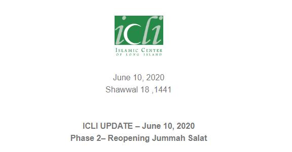 ICLI Jumma Reopening Guidelines- Phase II