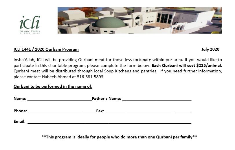 ICLI Qurbani Program 2020