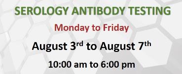 Free Serology Antibody Testing at ICLI