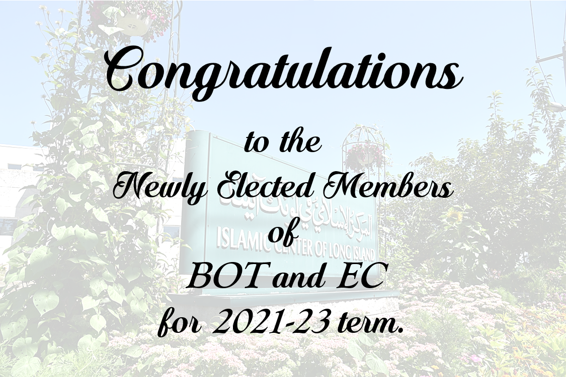 Congratulations to the newly elected members of BOT and EC for 2021-23 term