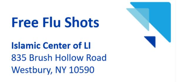 Free Flu Shots at ICLI on Oct 30th, 2020