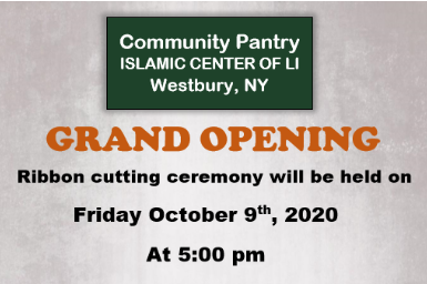 ICLI Community Pantry- Grand Opening on Oct 9th, 2020