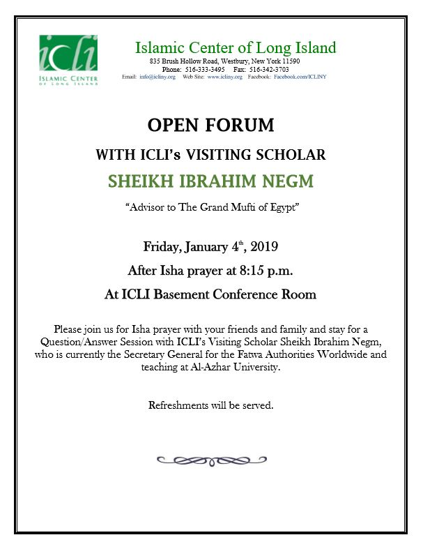 Open Forum with Sheikh Ibrahim Negm