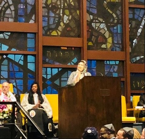 Dr. Isma spoke at Temple Shahray Shalom West Hempstead