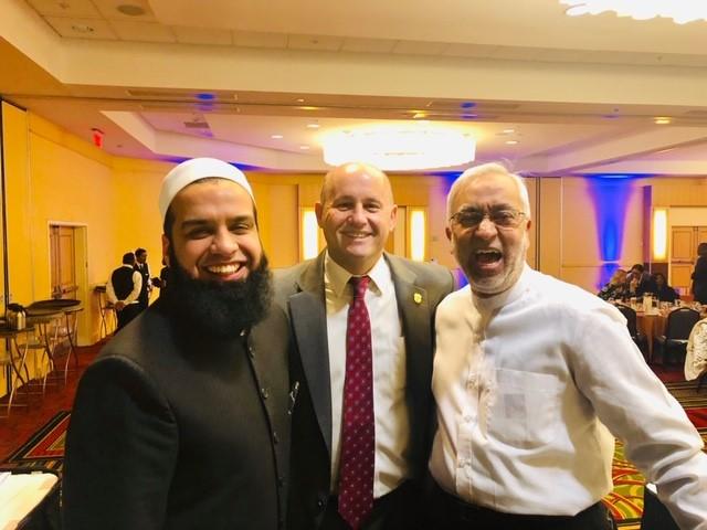 Mufti Farhan spoke at Temple Shahray Shalom West Hempstead