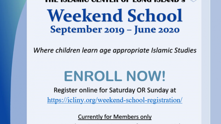 Weekend School 2019-2020