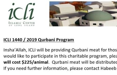 Qurbani Program 2019 – Islamic Center of Long Island
