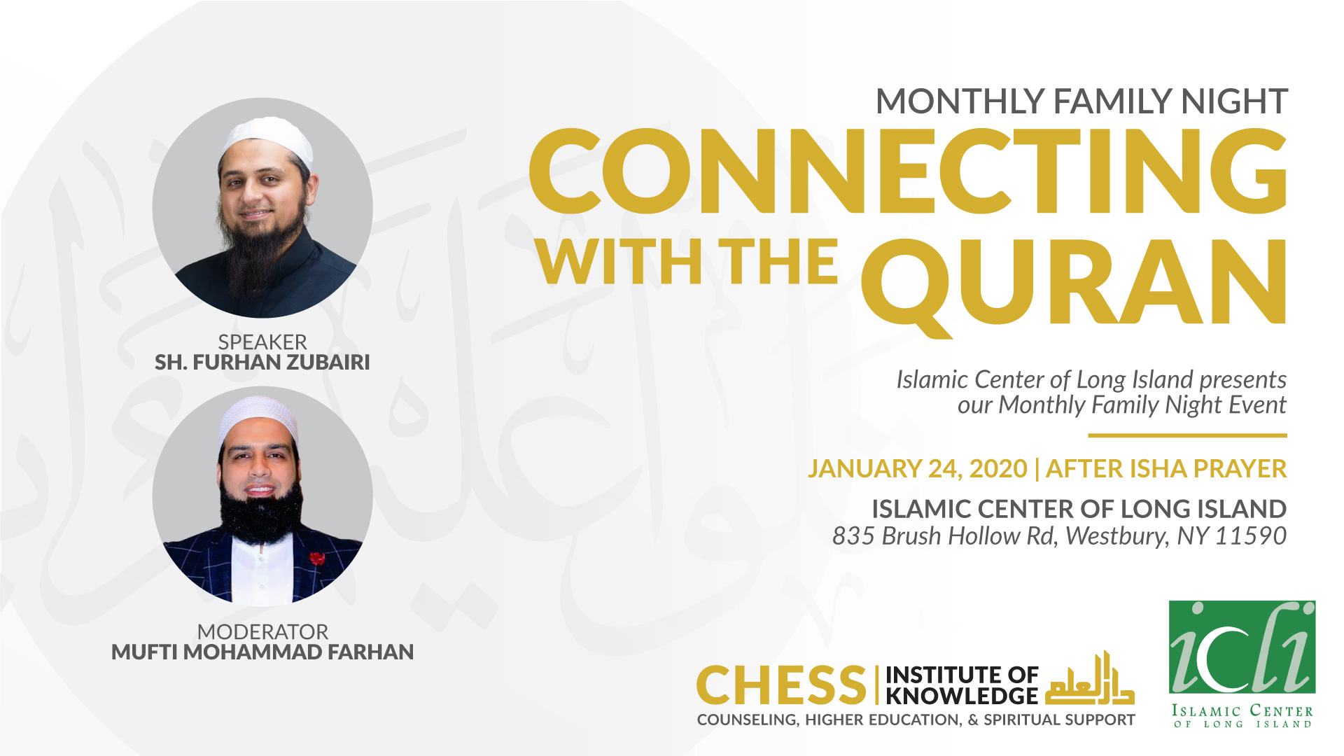 ICLI Monthly Family Event-Connecting With The Quran
