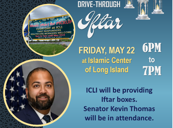 Drive-Through Iftar Friday, May 22