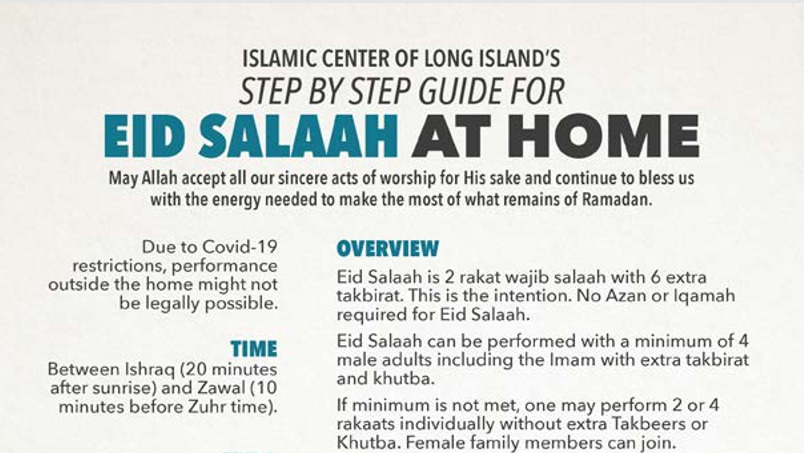 How to Perform Eid Salaah at Home