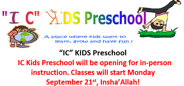 IC Kids Preschool 2020-21- Registration open