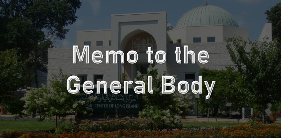 Memo to the General Body