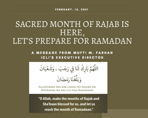SACRED MONTH OF RAJAB IS HERE, LET'S PREPARE FOR RAMADAN