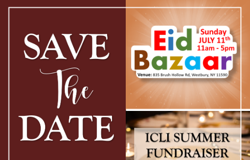 Save the Date- Eid Bazar at ICLI