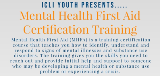 Mental Health First Aid Certification Training