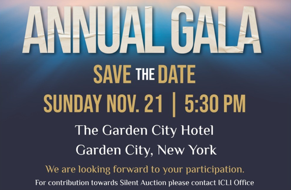 ICLI Annual Gala on Nov 21st- Buy Your Tickets Today!